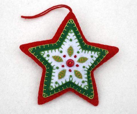 Estrellas de fieltro para Navidad