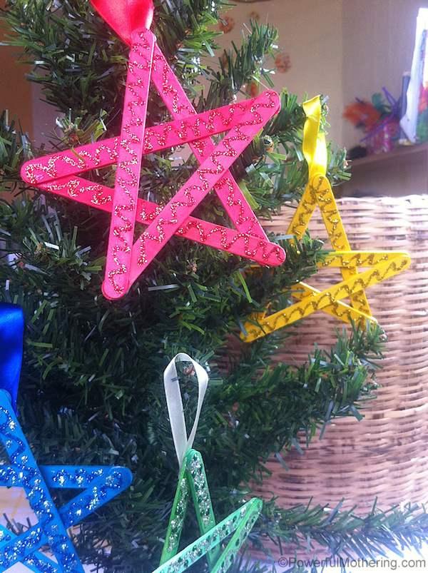 Estrella de Navidad casera