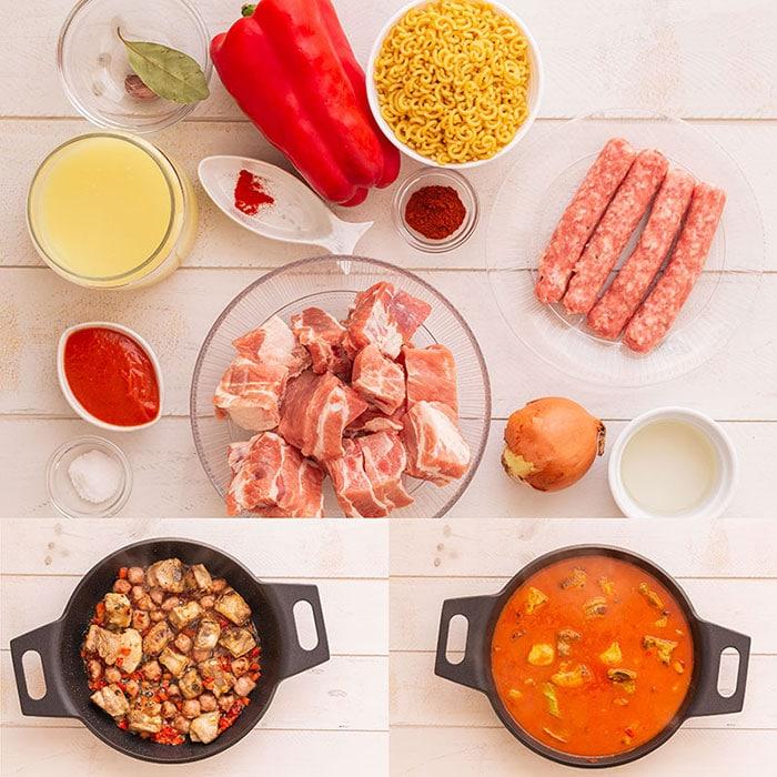 Fideos a la cazuela (receta de fideos con costilla) 1