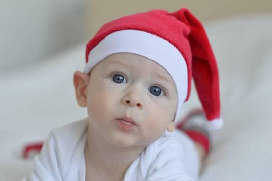 Fotos de bebés Navidad