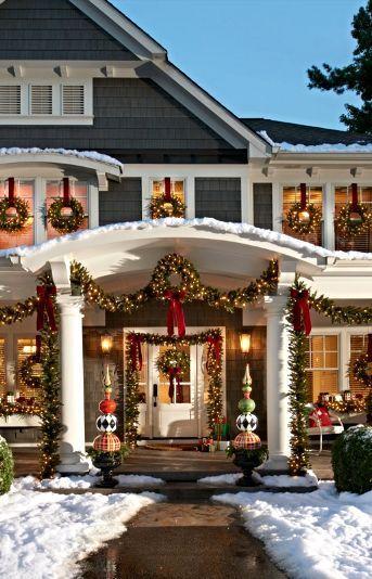 Casas decoradas para Navidad