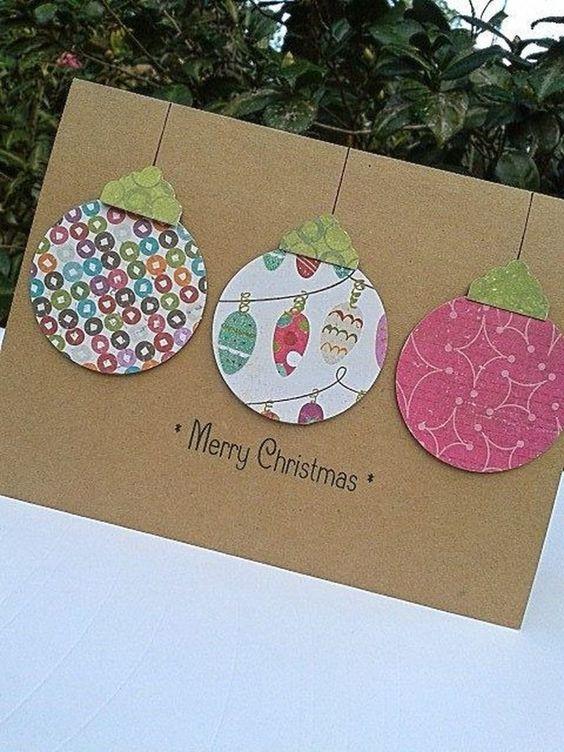 Tarjetas de Navidad caseras