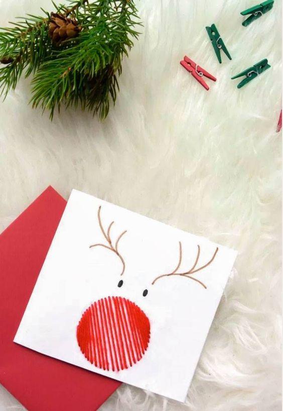manualidades postales de navidad
