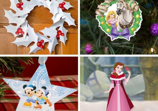 Recortables de Navidad de Disney