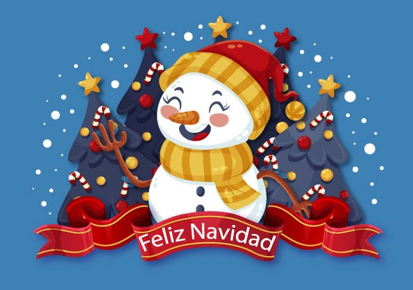 postales para felicitar la Navidad