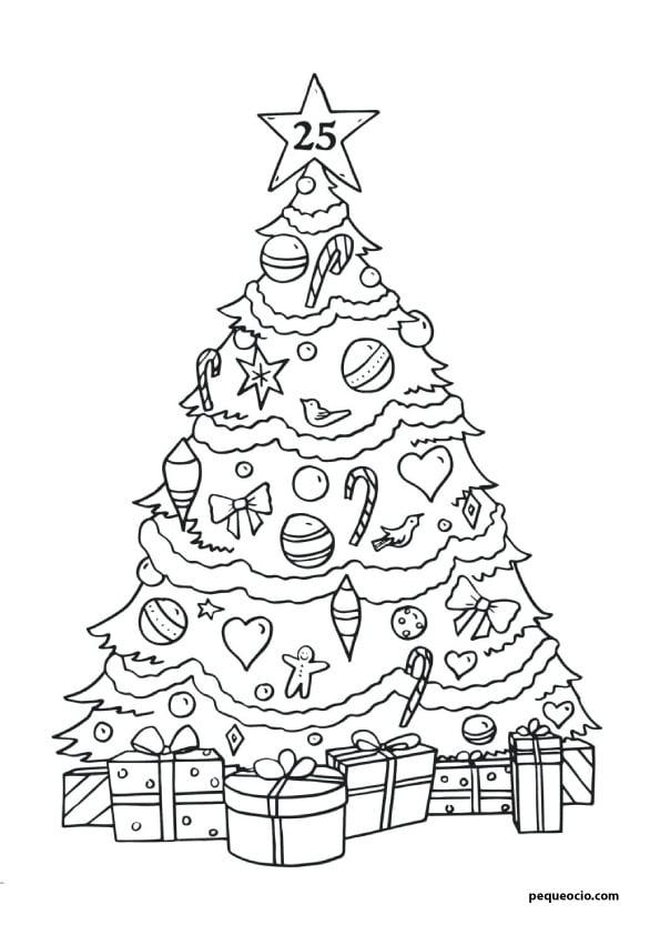 árbol de navidad dibujo
