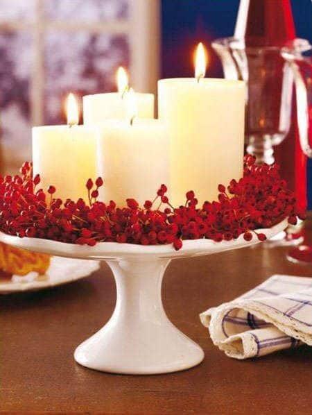 Centros de mesa navideños fáciles