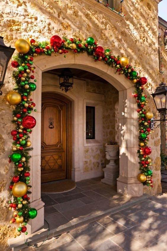 Puertas decoradas para Navidad