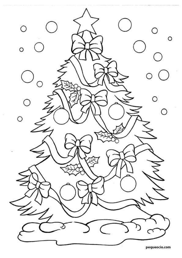 20 árboles De Navidad Para Colorear Y Cómo Dibujar Un árbol Navideño Pequeocio