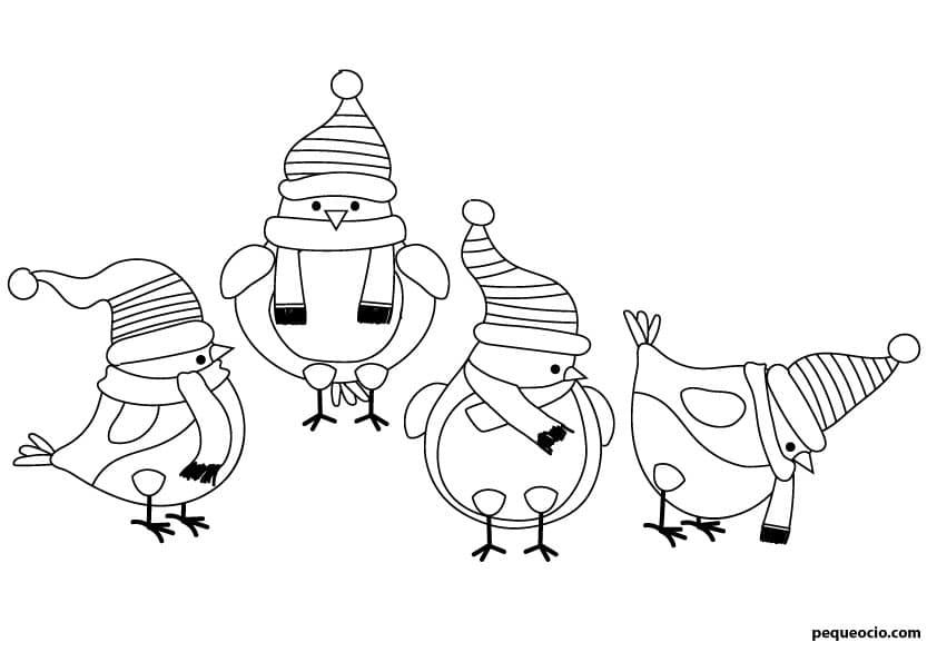 dibujos de navidad fáciles y bonitos