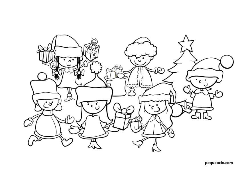 dibujos de navidad fáciles