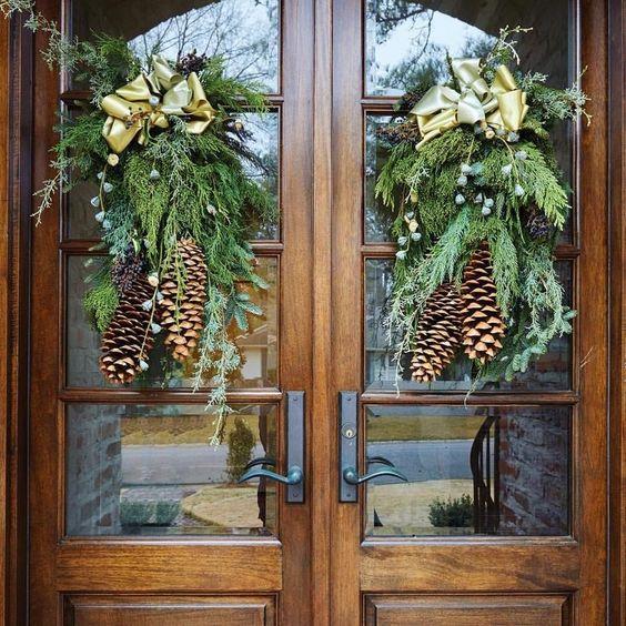 puertas navideñas decoradas