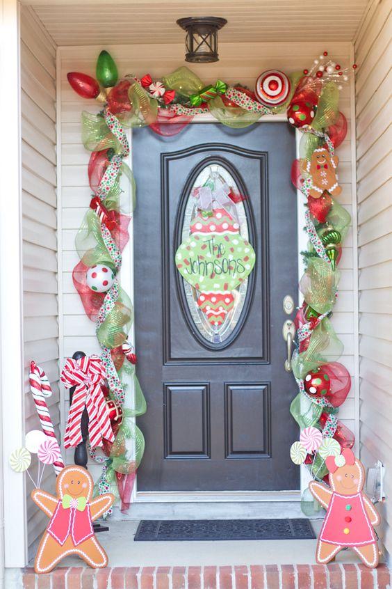 Puertas decoradas navideñas