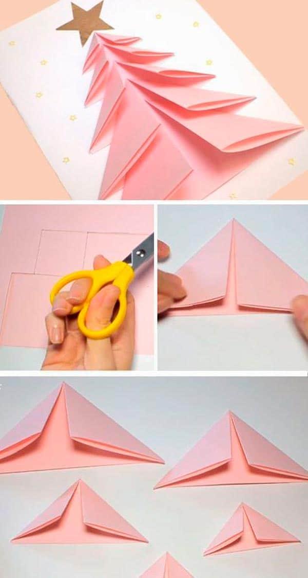 Tarjeta de navidad origami