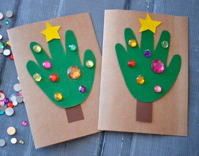 tarjetas navidad faciles para niños