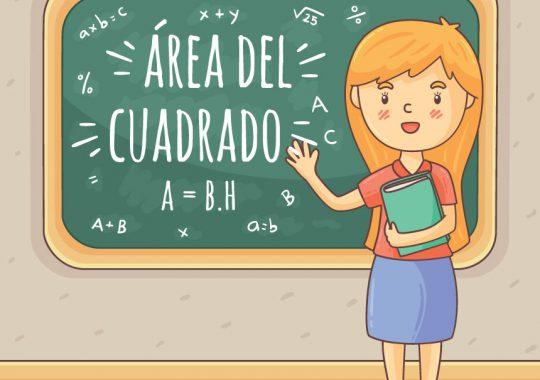 Fórmula área del cuadrado