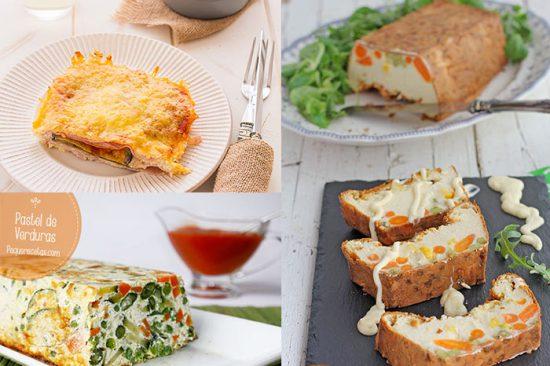 Recetas de pasteles de verduras