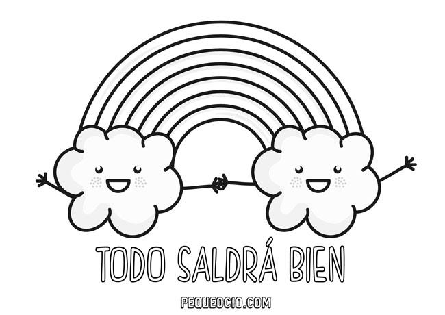 10 dibujos de ARCOÍRIS para colorear #TodoSaldráBien 8