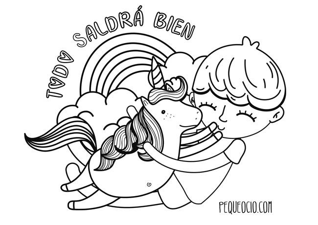 10 dibujos de ARCOÍRIS para colorear #TodoSaldráBien 4