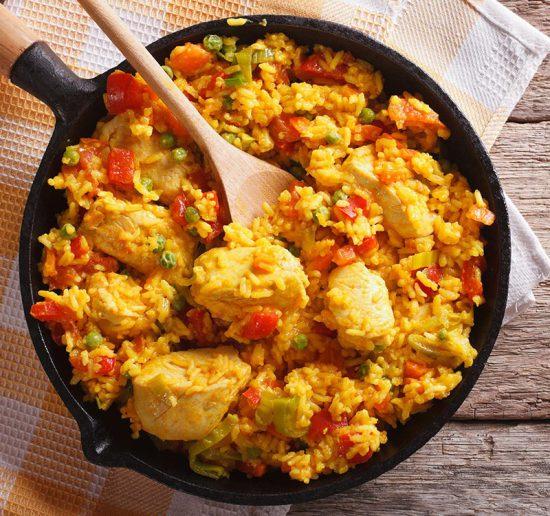 Cómo hacer arroz con pollo