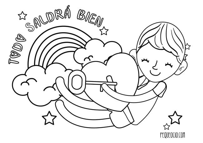 10 dibujos de ARCOÍRIS para colorear #TodoSaldráBien 7