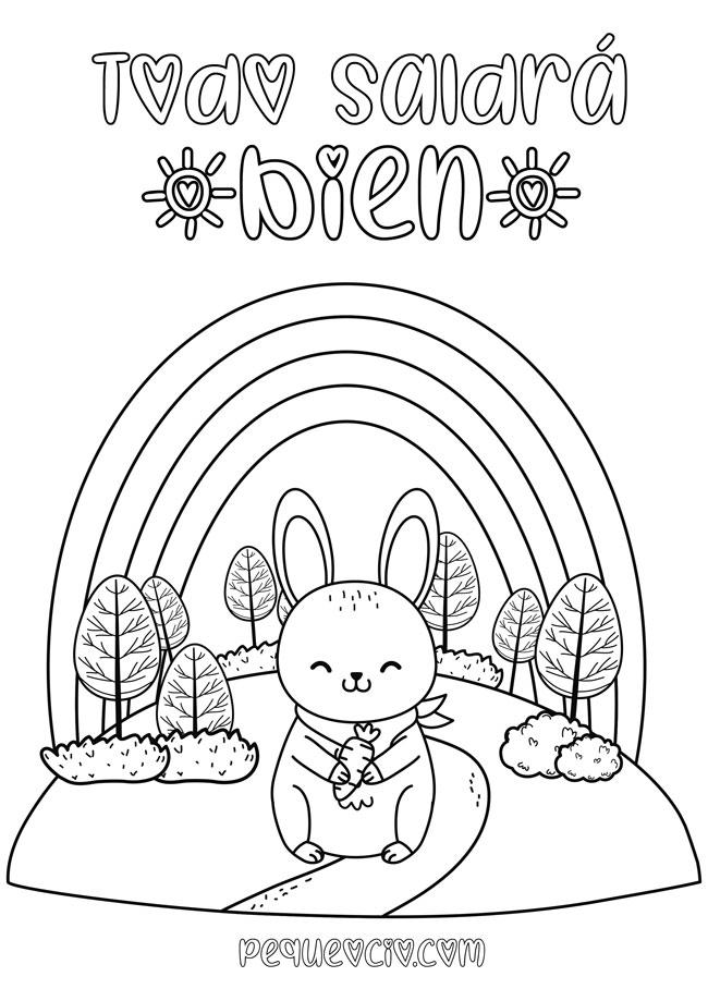 10 dibujos de ARCOÍRIS para colorear #TodoSaldráBien 9