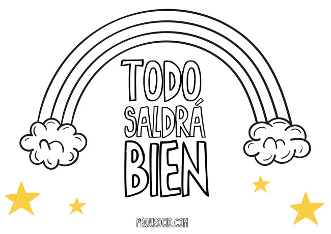10 dibujos de ARCOÍRIS para colorear #TodoSaldráBien 6