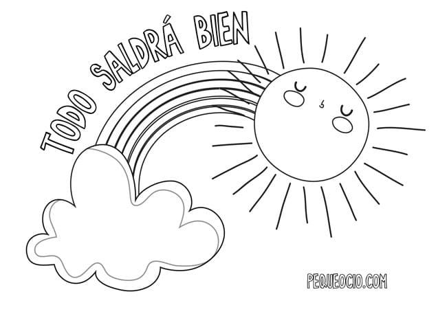 10 dibujos de ARCOÍRIS para colorear #TodoSaldráBien 3