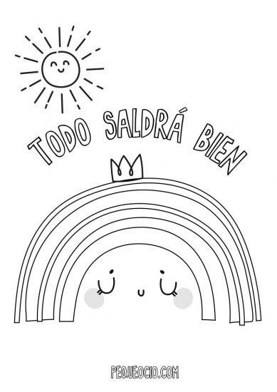 10 dibujos de ARCOÍRIS para colorear #TodoSaldráBien 2