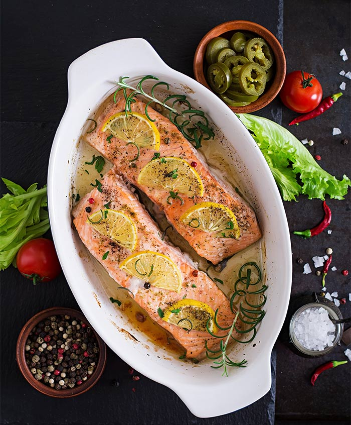 Hacer salmón al horno