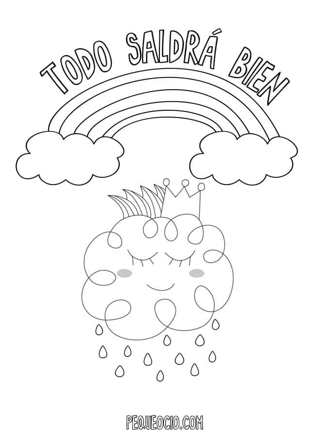 10 dibujos de ARCOÍRIS para colorear #TodoSaldráBien 1