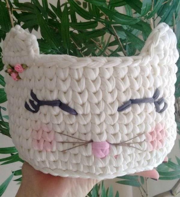 Cómo hacer cestas de trapillo