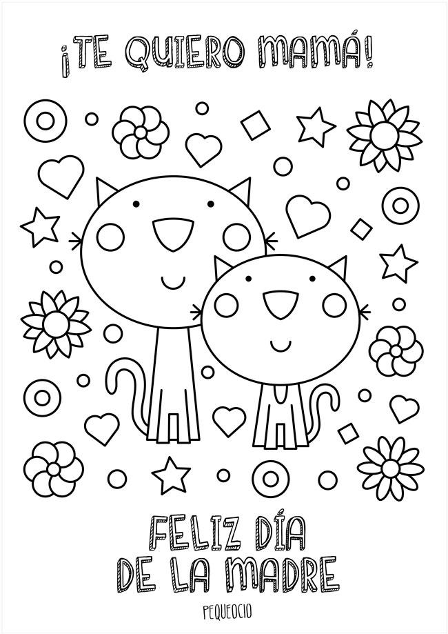 Día de la Madre dibujos para niños