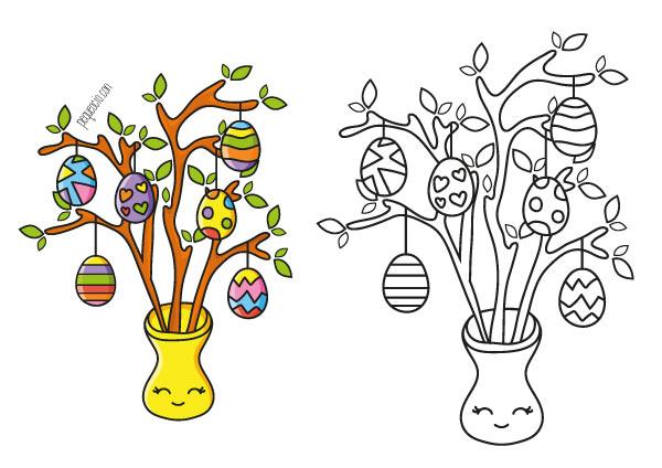 Huevos de Pascua para pintar