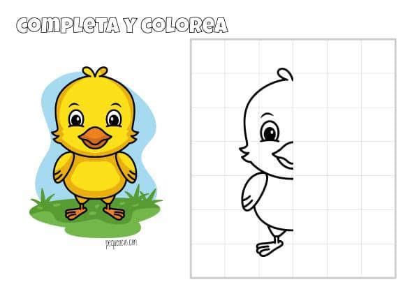 Cómo dibujar un pollito de Pascua