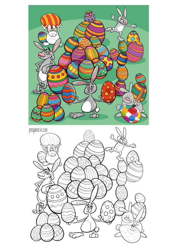 Dibujos de Pascua para pintar