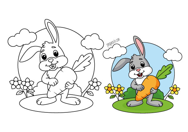 Dibujos de conejitos de Pascua