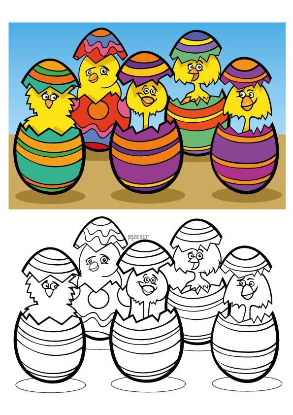 Huevos de Pascua para colorear