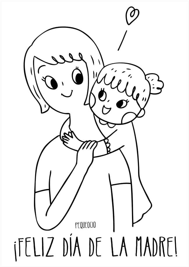 dibujos dia de la madre faciles