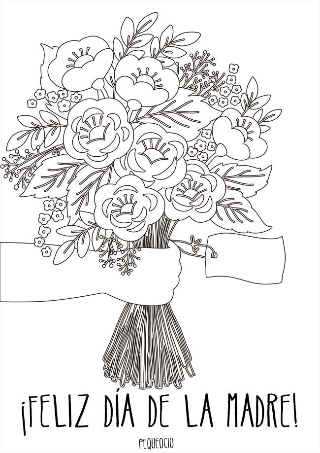 7 Dibujos Del Dia De La Madre Para Colorear Y Felicitar A Mama
