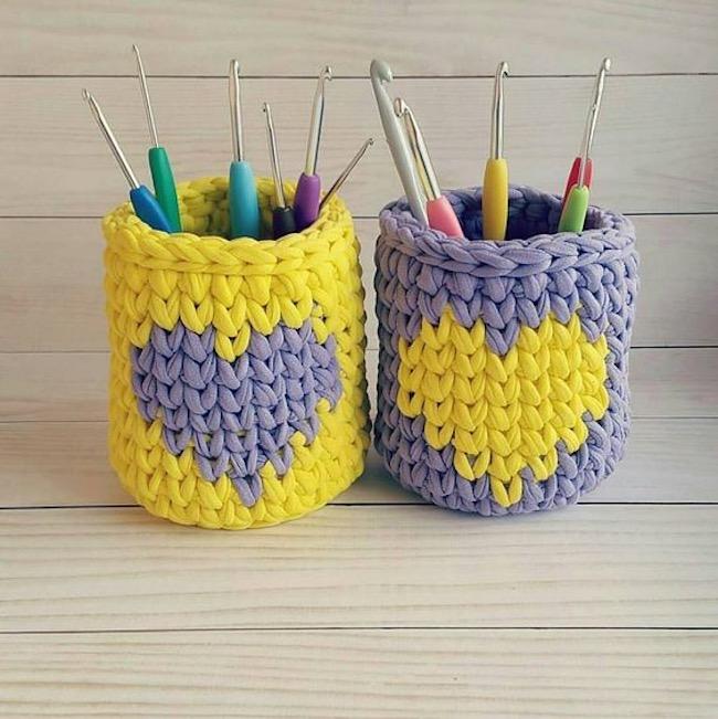 Manualidades con trapillo y crochet fáciles y originales 3
