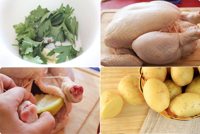Pollo asado al horno con patatas 1