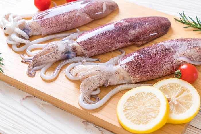calamares plancha inredientes