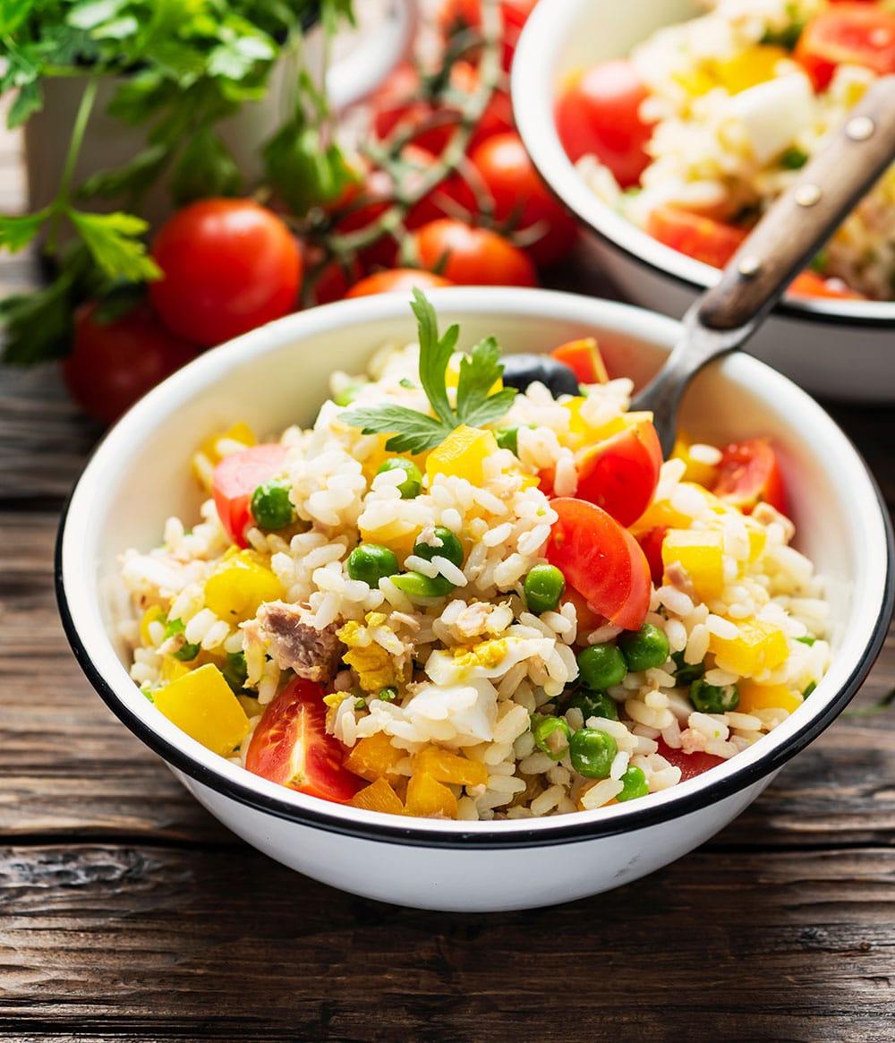 Ensalada de arroz (10 recetas saludables) 1