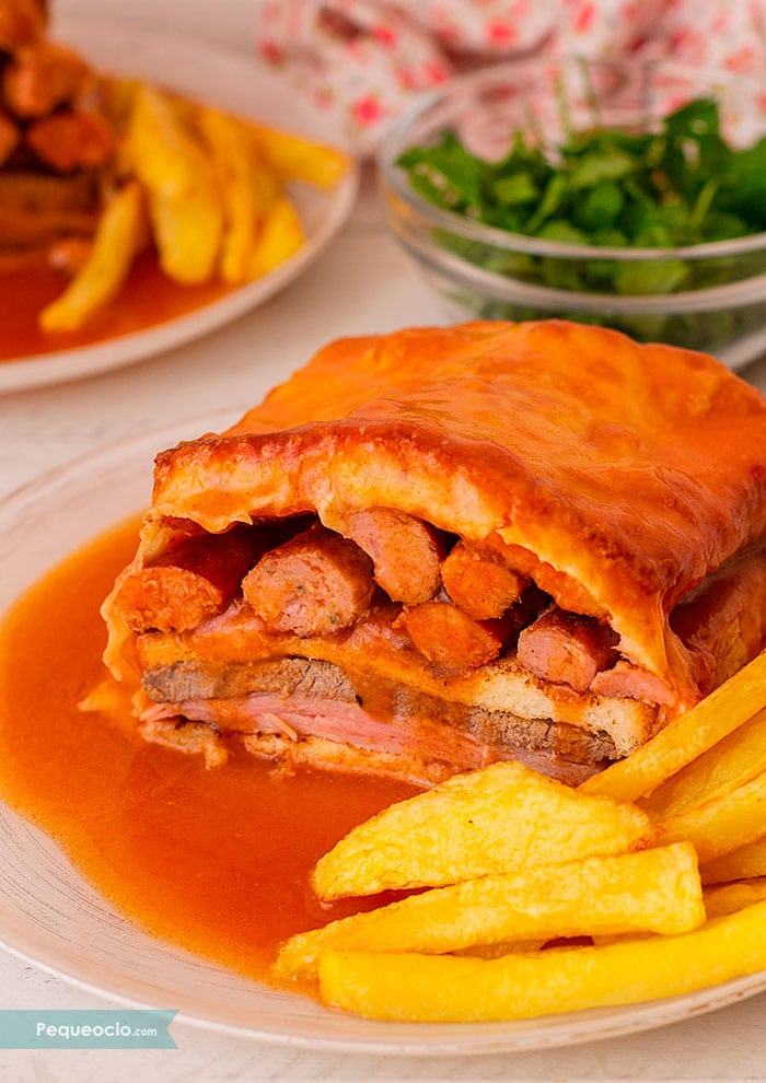 Cómo hacer sándwich Francesinha de Oporto 3