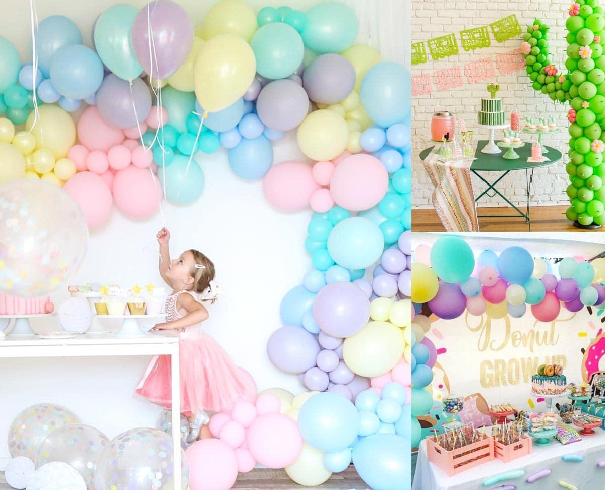 decoración con globos de fiestas