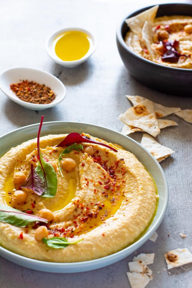Hummus casero de garbanzos
