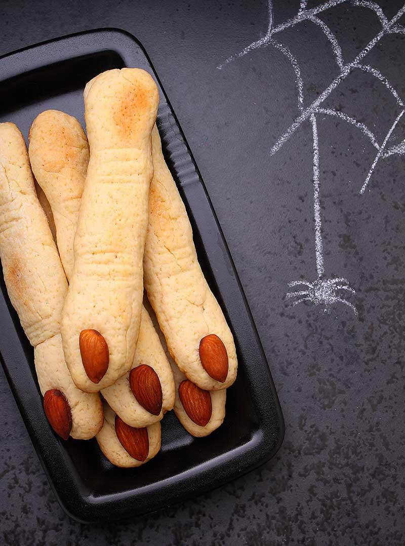 Dedos de bruja de galletas