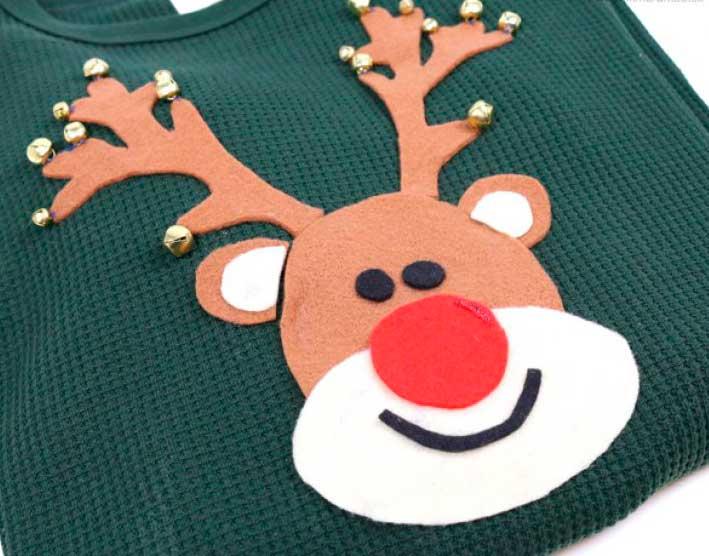DIY: Cómo convertir un jersey para niño en un jersey navideño 2