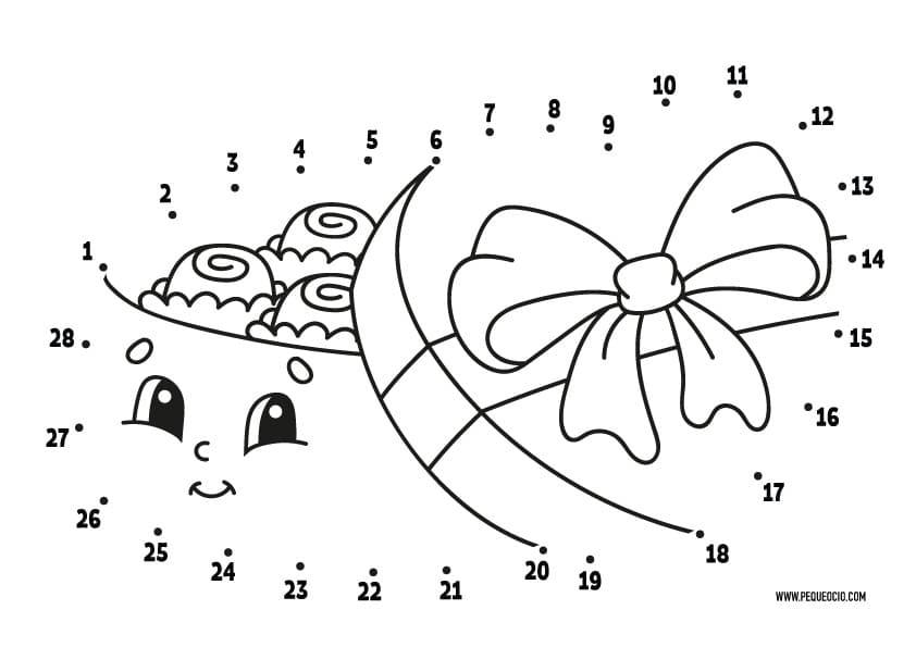 Dibujos San Valentín de unir puntos